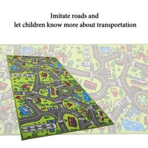 Image 4 - ילדי כביש תנועה משחק מחצלת שמיכת עיר ירוק כביש ילד לשחק מחצלת שטיח עבור תינוק זחילה שמיכת רצפת שטיח שטיח מחצלת