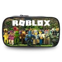 ROBLOX Bag Zipper Pencil Case Twill Canvas Large Pen Box Pencil Bag For Student School Stationery Supplies