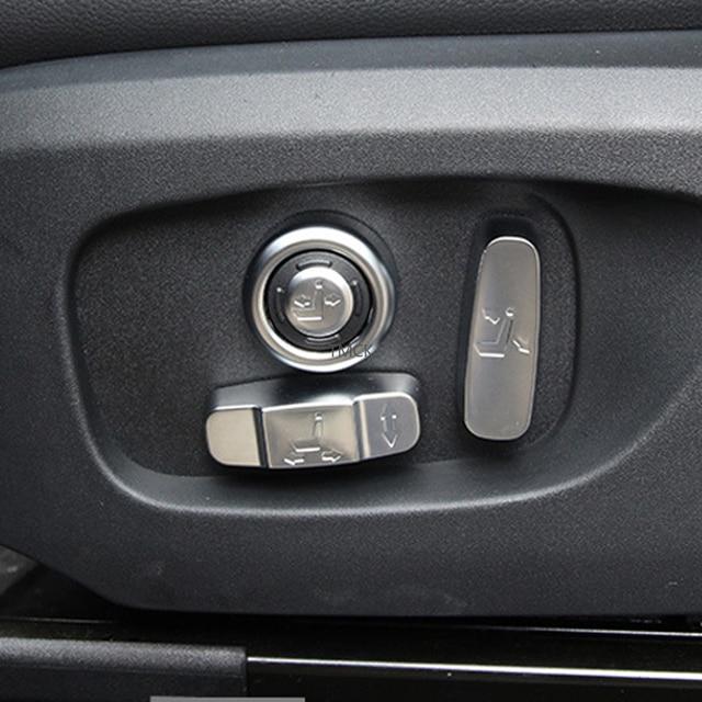 Car Accessories Seat Adjustment Button Frame Trim Decorative Cover Stickers For Jaguar F-Pace f pace X761 XE X760 XF/XFL X260 4