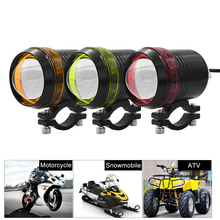 1 Or 2PCS x 3 Mode 3000LM Motorcycle ATV LED Waterproof Driving Headlight White Light Spot Fog Lamp