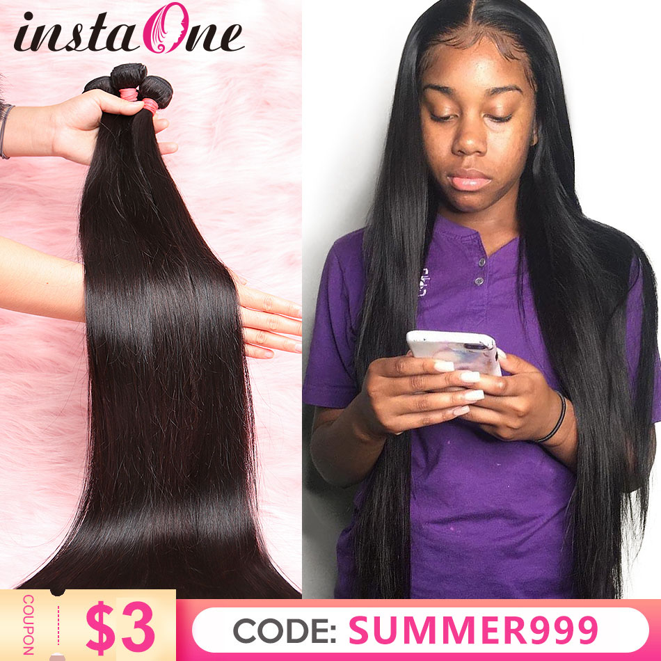 Bundles Hair-Extensions Weaves Human-Hair Straight 40inch Remy 3 28 34 30-32