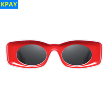KPAY Cat Eye Sunglasses 2019 Women Fashion Brand Designer Rectangle Sun Ladies Vintage Candy Color Eyewear Shades Glasses