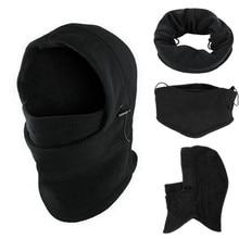6 in1 Neck Mens Outdoor fleece warmer hat Winter Hat Fleece Hood Ski Mask Warm Helmet bomber For men fall Fashion