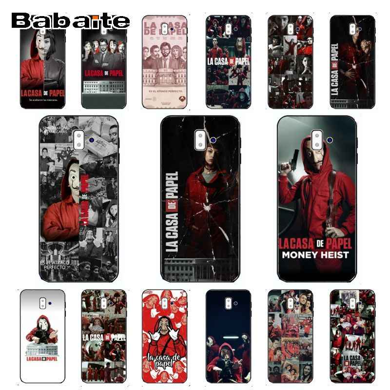 TV series Money Heist House of Paper Novelty Fundas Phone Case Cover For samsung Galaxy j6 plus A6 A8 A9 A10 A30 A50 Cover