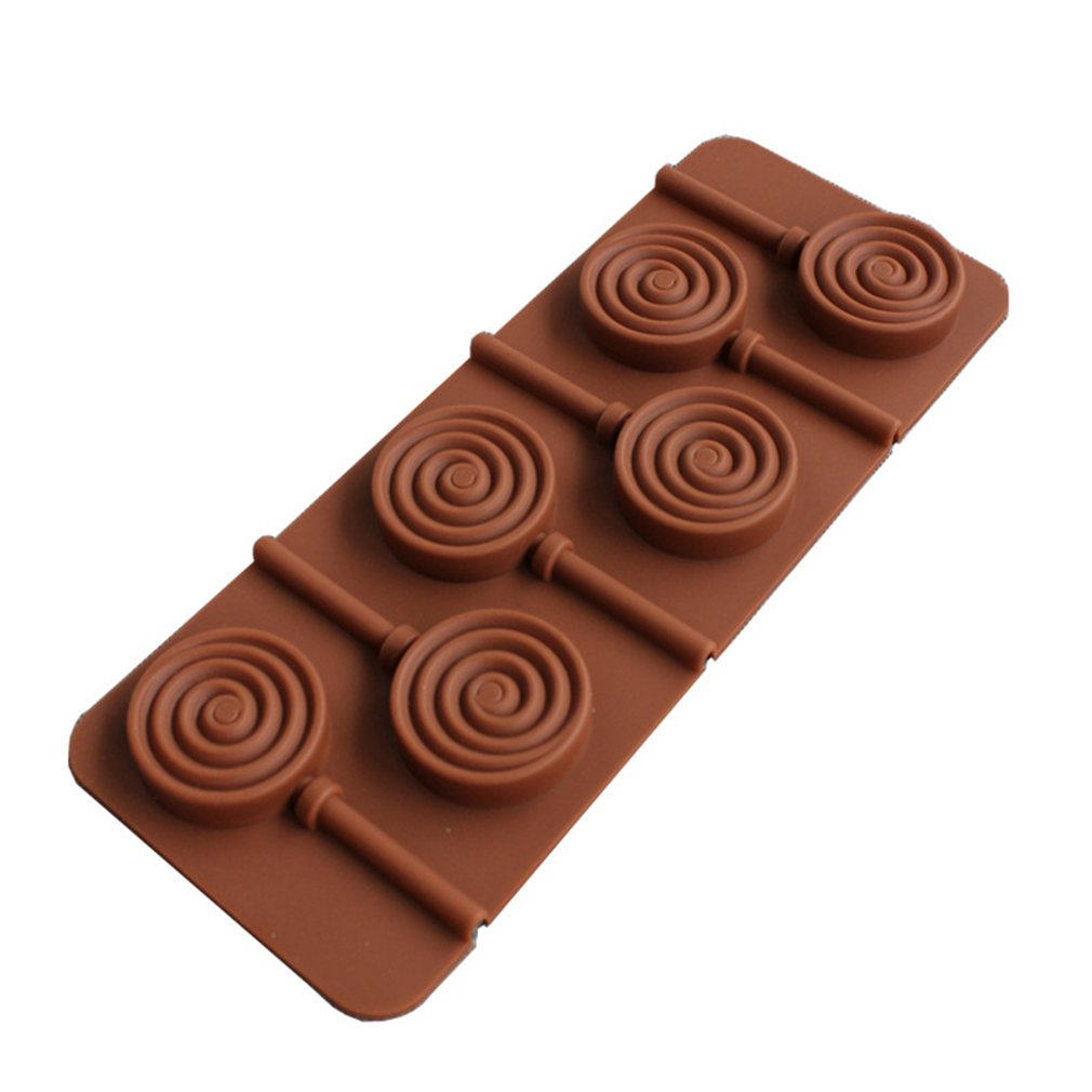 6 Hole Silicone Lollipop Mold Starfish Shape DIY Candy Fondant Mold With Sticks in Baking Pastry Tools from Home Garden