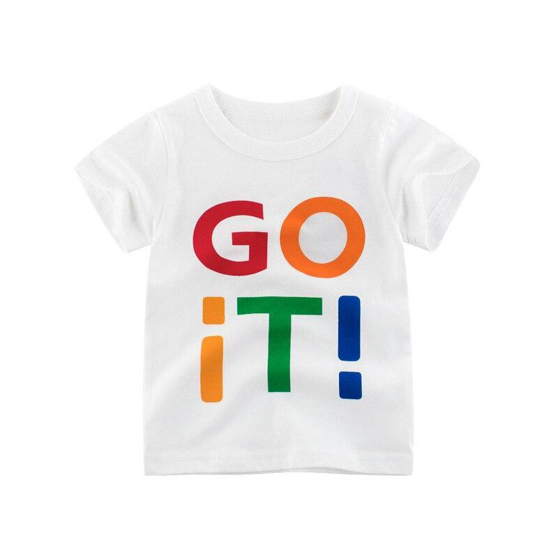 Loozykit/Летняя детская футболка для мальчиков футболки с короткими рукавами и принтом короны для маленьких девочек хлопковая детская футболка футболки с круглым вырезом, одежда для мальчиков - Цвет: S222-8