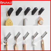 Robe Hook Black Stainless Steel Bathroom Hook for Towels Bag Key Hanger Decorative Clothes Coat Hooks Wall Mounted Bath Hardware robe hooks stainless steel bathroom hook for towels key bag hat clothes coat hook wall mounted door hanger decorative hang rack