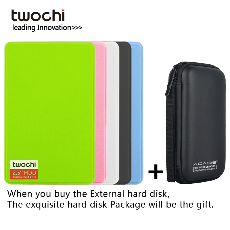 Original twochi 2.5 Inch External Hard Drive Storage 320G 500G Mini USB3.0 1TB 750G 160G 250G HDD Portable External HD Hard Disk 1