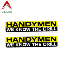 Aliauto 2 X Funny Car Stickers Creative Handymen We Know The Drill Accessories PVC Decal for Kia Sorento Peugeot 3008,15cm*3cm(China)
