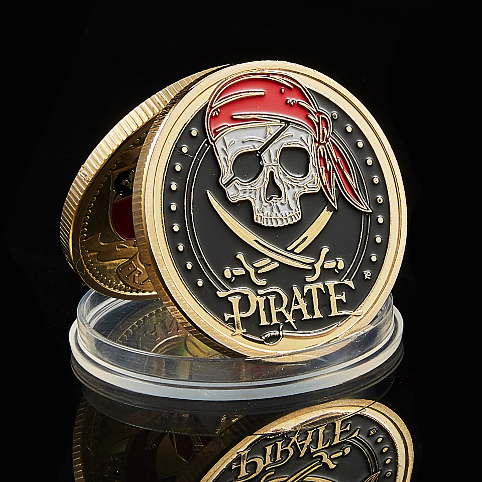 2020 Skull Pirate Ship Gold Treasure Coin Lion Of The Sea Running Wild Collectible Vaule Coin