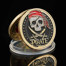 2021 Skull Pirate Ship Gold Treasure Coin Lion of The Sea Running Wild Collectible Vaule Coin