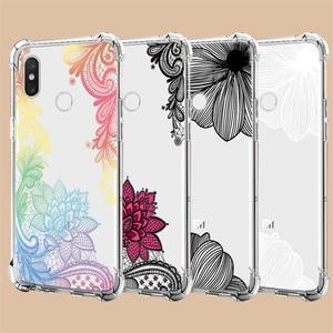Clear-Case Flower Tpu-Cover Xiaomi Redmi 5-Plus 6A for 7-7a/6a/5-plus/.. 9T A3 6/8-Lite