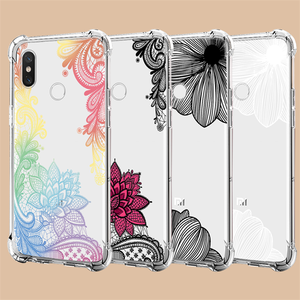 Flower Airbag Clear Case For Xiaomi Redmi 7 7A 6A 5 Plus K20 Note 4 4X 5 6 7 Pro Mi 9T