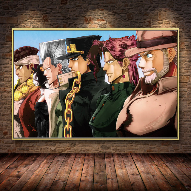 JoJo s Bizarre Adventure Japan Anime Cartoon Poster and Prints Canvas Painting Art Wall Pictures Living Room Home Decor