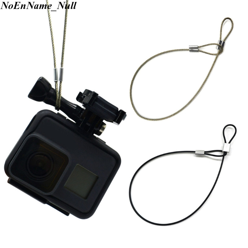 1pc Safety Steel Wire Safety Strap Stainless Steel Tether Lanyard Wrist Hand 30cm For GoPro Camera Hot