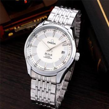 Relojes de marca de lujo para hombre, reloj analógico de acero inoxidable resistente al agua, reloj de pulsera de cuarzo, reloj Masculino 0102