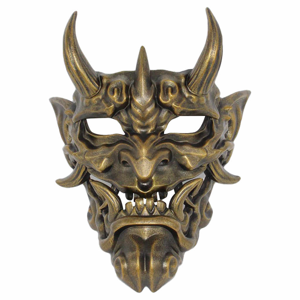 Jepang Prajna Halloween Mask Koleksi Pakaian Menggantung Masker Pihak Sekolah Festival Halloween Festival Gratis Pengiriman D4