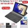 Keyboard for Samsung Galaxy Tab A 10.5 2018 Bluetooth Keyboard Case T590 T595 SM-T590 SM-T595 Luxury Leather Cover Funda