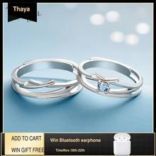 Thaya中空アウトジルコンウェディングデザインリングS925スターリングシルバー高品質ファンタジージュエリーリング女性の愛好家のギフト