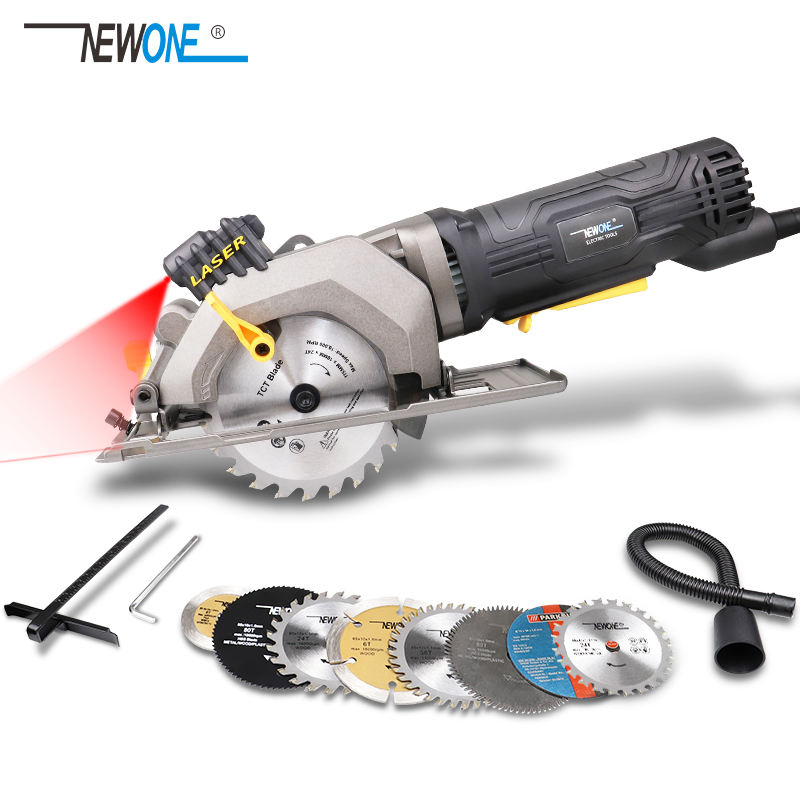 NEWONE 600W 3500RPM Mini Compact Circular Saw With Laser Guide Small But Powerful Ideal For Wood, Tile, Aluminum And Plastic Cut