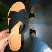 2020 Summer Women Slippers Solid Color Skin Flat Shoes Female Cool Flip Flops Comfort Outside Beach Ladies Soft Slides Slippers