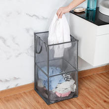 Popped Up Collapsible Mesh Laundry basket Dirty Sorter Basket Clothing Storage hamper