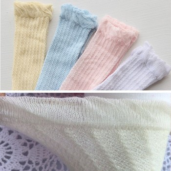 Newborn Infant Non-slip Long Socks Kids Knee High Socks 2019 New 0-3Years Cute Baby Boys Girls Cotton Mesh Breathable Soft Socks image