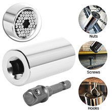 Universal Torque Wrench Head Set Socket Sleeve 7-19mm Power Drill Ratchet Bushing Spanner Key Magic Multi Hand Tools