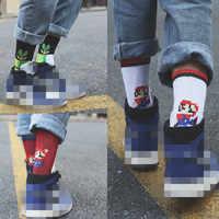 Neue Anime Super Mario Cosplay Zubehör Luigi Mario Chomper Klempner Muster Baumwolle Socken Kind Erwachsene Strümpfe Weihnachten Geschenke