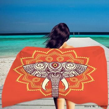 Słonie ręcznik plażowy letni ręcznik plażowy dzikie zwierzęta szybkoschnący ręcznik plażowy ręcznik kąpielowy z mikrofibry ręcznik domowy Dropshipping tanie i dobre opinie CN (pochodzenie) Beach Towel Bez wzorków Z dzianiny Rectangle 480g St-01 można prać w pralce 11 s-15 s Drukuj mikrofibra