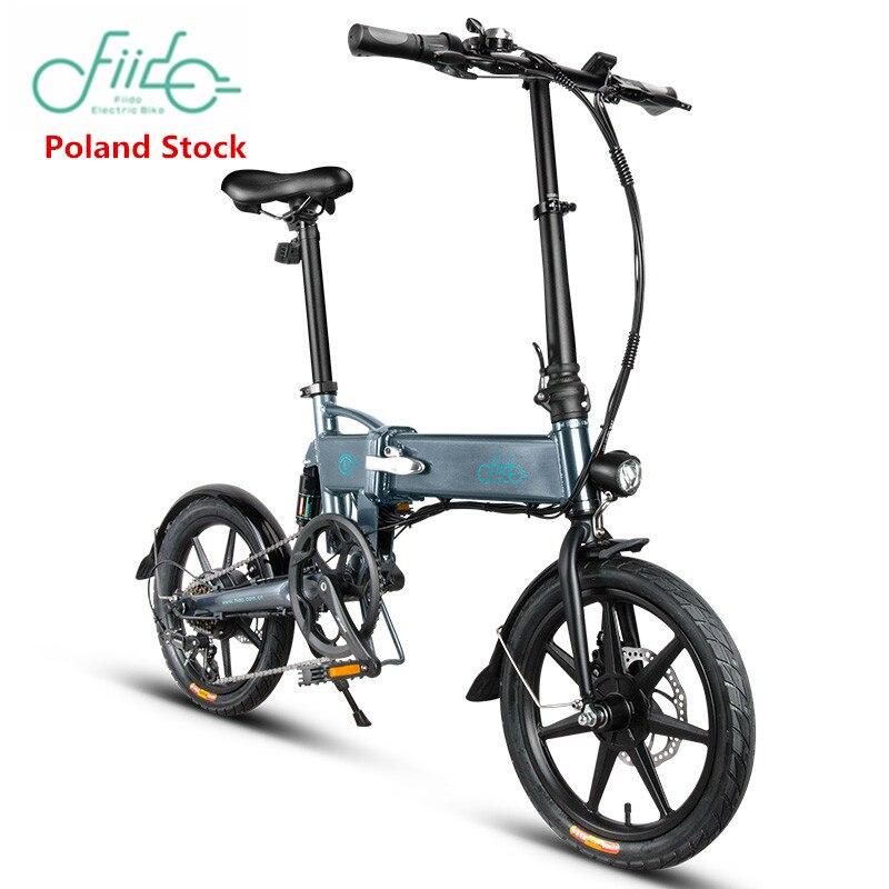 Европейский склад FIIDO D1 D2 D2s D3 D3s 16 дюймов складной электрический велосипед Алюминиевый сплав двойной дисковый тормоз Электрический велосип...