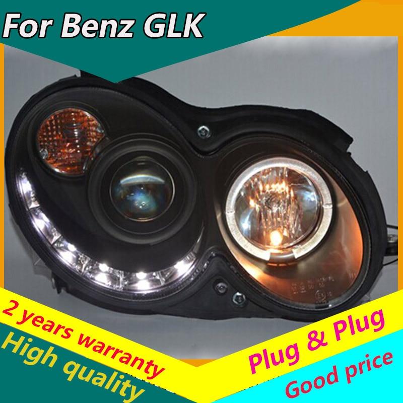 KOWELL Car Styling For Mercedes-Benz CLK W209 CLK200 CLK240 CLK280 CLK350 LED Line Projector Headlights 2004-2009 High Quality