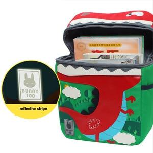 Image 4 - Kid Unicorn Backpack Cute 3D Cartoon Dinosaur Anti lost Printed Kindergarten orthopedic School Bag for Girl Boy Children Mochila