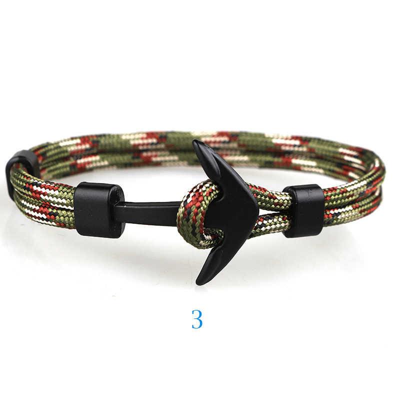 Parachute Touw Anker Armband Voor Mannen En Vrouwen Eenvoudige Vintage Armbanden Als Een Gift Voor Paar Tiener Armbanden Hand Chain