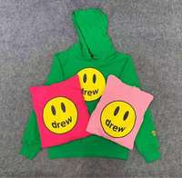 19FW Hot JUSTIN BIEBER Drew House Pullover Hoodies Hip Hop Men Women high quality Smiley face Logo Printing Sweatshirts S XL
