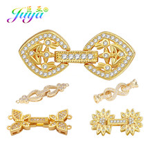 Juya DIY perły bransoletka naszyjnik Making komponenty ręcznie złącze zapięcie blokada zatrzaski Beadwork biżuteria klamrami dostaw