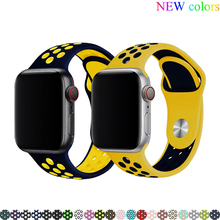 sport strap for apple watch band 42mm 38mm apple watch 4 5 44mm 40mm iwatch series 3/2/1 silicone watchband bracelet belt стоимость