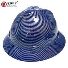 Darlingwell borda completa capacete de segurança construção capacete de fibra de carbono padrão de trabalho ferroviário metalurgia mina boné atacado
