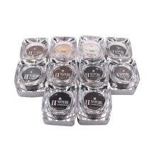 11 צבעים כיכר בקבוקי PCD קעקוע דיו פיגמנט מקצועי איפור קבוע דיו אספקת סט לגבות שפתיים קעקוע ערכת
