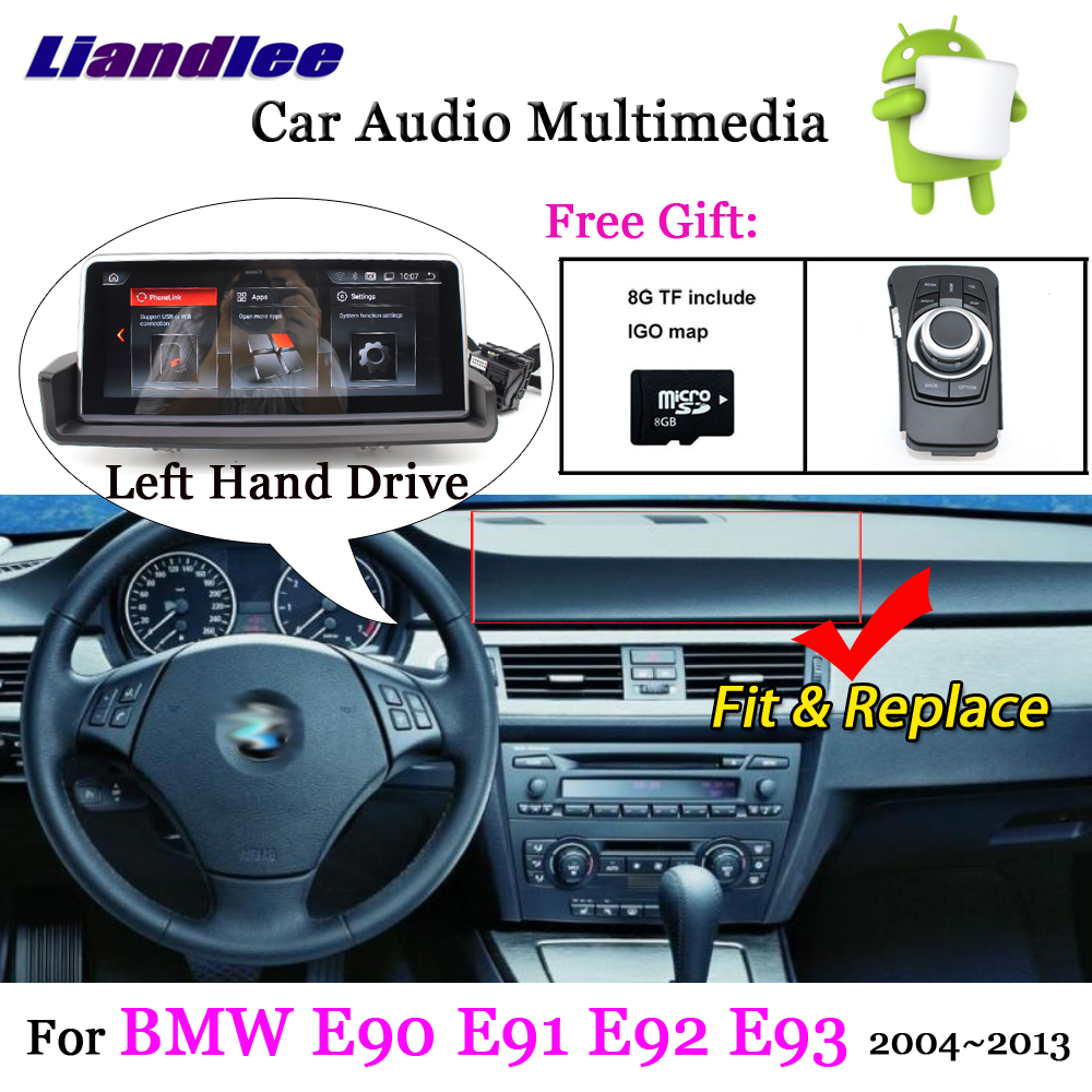 Car Radio For <font><b>BMW</b></font> 3 Series <font><b>E90</b></font> E91 E92 E93 Left Hand Drive <font><b>Android</b></font> Multimedia Player GPS Navigation System HD Screen Display TV image