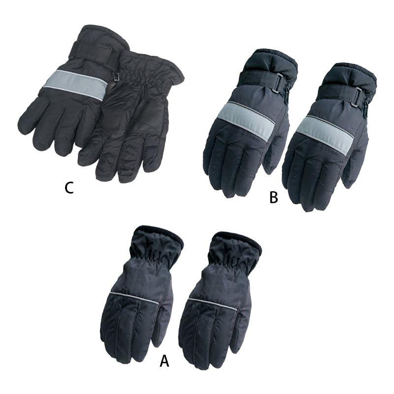 Adult Children Winter Warm Waterproof Snow Skiing Gloves Full Finger Windproof Thicken Lining Snowboarding Anti-Slip Mittens