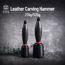 Sozo Leather Carving Nylon Hammer Tool Leathercraft Punch Printing Cutting 270g/570g