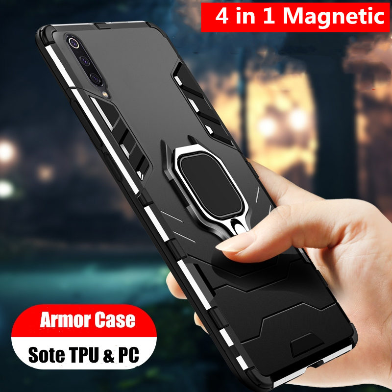 4 In 1 Shockproof Case For Samsung Galaxy A50 A30 A20 A10 A70 A40 A80 A60 A90 A50s A30s Note 9 10 Plus S10 S9 S8 Phone Cover M20