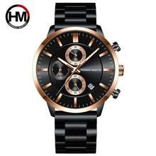 Часы наручные мужские кварцевые с тремя циферблатами водонепроницаемые