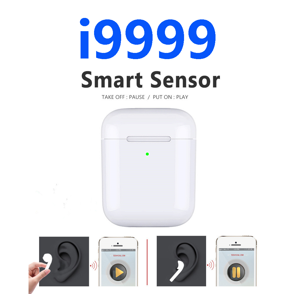 I9999 Tws New In-ear Detection Sensor Tap Control  Wireless Charging Earphone PK  I200 I500 I1000 I2000 Tws I5000 Tws I8000 Tws