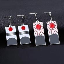 Серьги подвески sg аниме kamado tanjirou серьги чокер для женщин