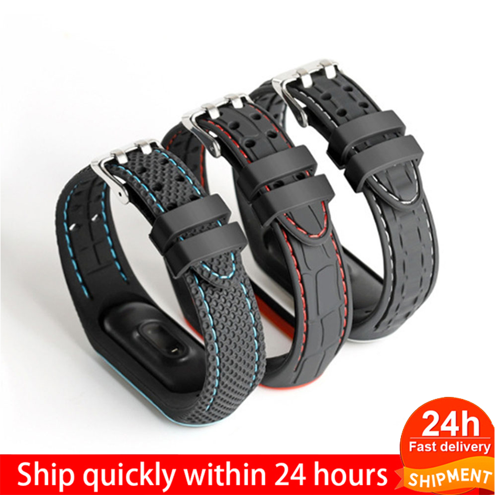 Браслет для Xiaomi Mi Band 3 4 спортивные наручные часы силиконовый ремешок для Xiaomi Mi Band 3 4 браслет Mi Band 4 3 Band|Ремешки для часов|   | АлиЭкспресс