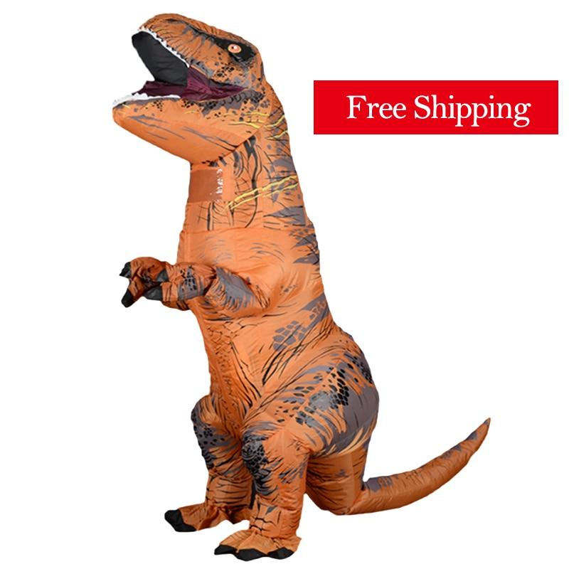 Надувной костюм тираннозавра Рекса для взрослых, мужчин, женщин, детей 1