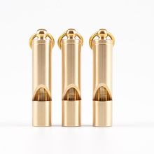 Mini Portable High Decibel Whistle Key Ring Emergency Survival Whistle Keychain Brass Outdoor Sports Camping Hiking EDC Dadget high quality120db edc emergency aluminum whistle camping survival keychain kit for outdoor activities pesonal safe security