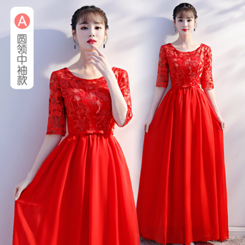 Red Bridesmaid Dress Chiffon Long Dress Sister For Wedding Party For Woman Vestido Azul Marino Simple Dress Sexy Prom Azul Royal